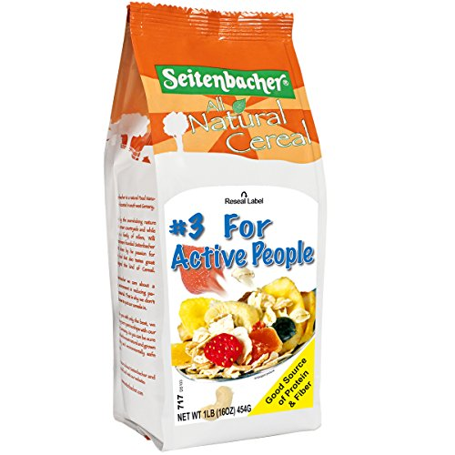 Seitenbacher Musli Cereal, Eighteen Tasty Ingredients, #3 For Active People, 16 Ounce (Pack of 6)