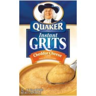 Quaker, Instant, Cheddar Cheese Flavored Grits, 12oz Box (Pack of 4)