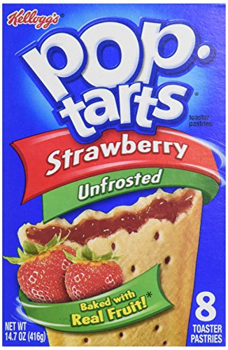 Kellogg's Pop-Tarts Strawberry Plain, 8 ct, 14.7 oz