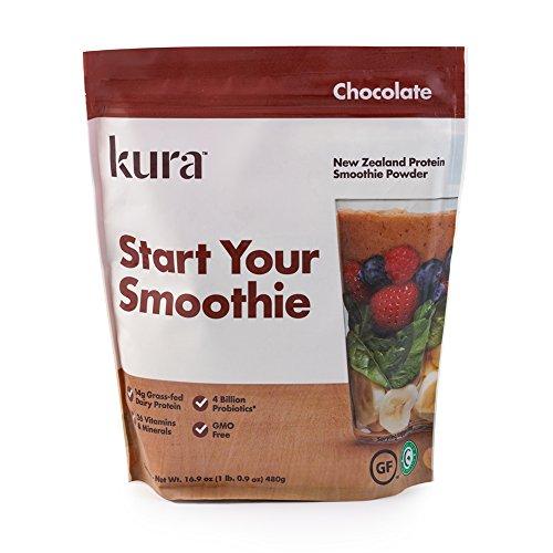 Kura Protein Smoothie Powder – Chocolate, 16.9 Ounces