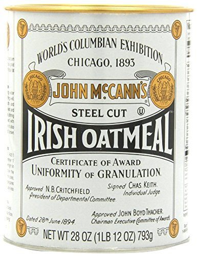 McCanns Steel Cut Irish Oatmeal Tin, 28 oz