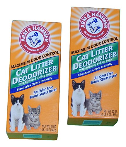 Arm & Hammer Maximum Odor Control Cat Litter Deodorizer, 20-oz Box (Pack of 2)