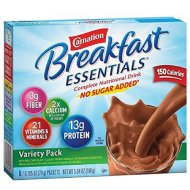 Carnation Breakfast Essentials Variety Pack No Sugar Added  (Pack of 2)