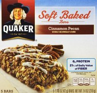 Quaker Chewy Soft Baked Bar, Cinnamon Pecan Bread, 7.4 Ounce