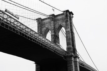 Close up Brooklyn Bridge