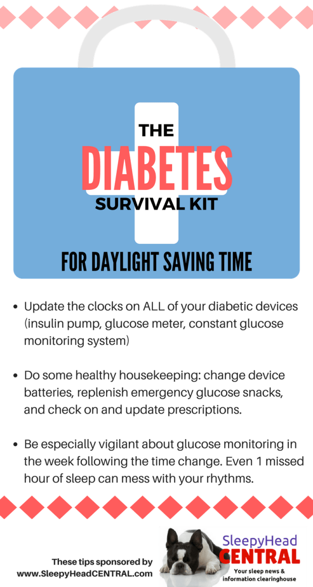 Tips for diabetics during daylight saving time