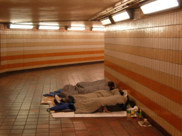 sleeping rough at Charing Cross The Right to Sleep