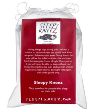 sleep product review back pain knee pillow
