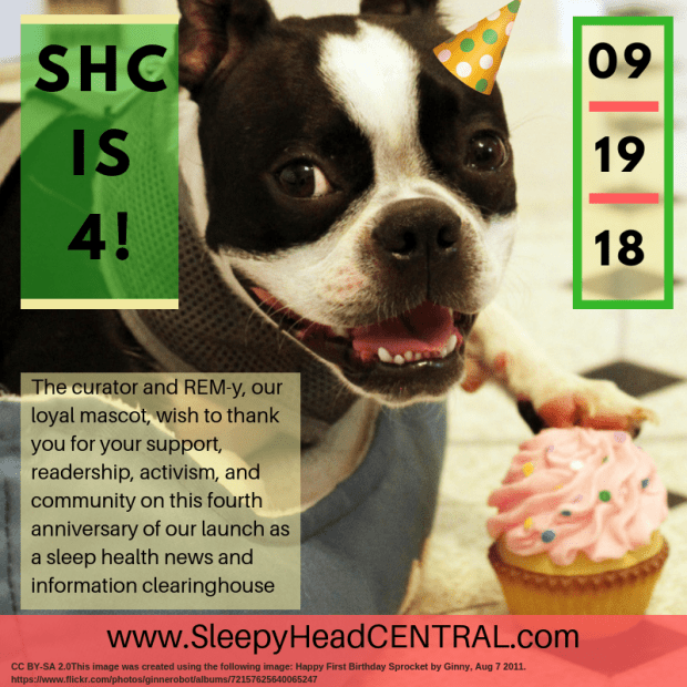 sleepyheadcentral sleep health anniversary 4 years