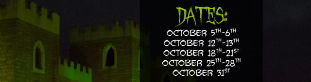 SH Haunted Scream Park dates 2018