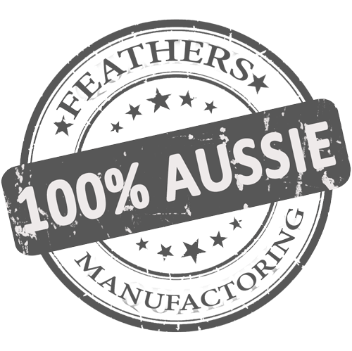 Feathers Manufactoring 100% Aussie