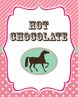 Hot chocolate table sign