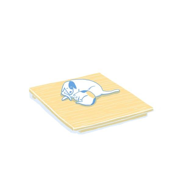 眠豆腐床架(無床頭板)|標準雙人