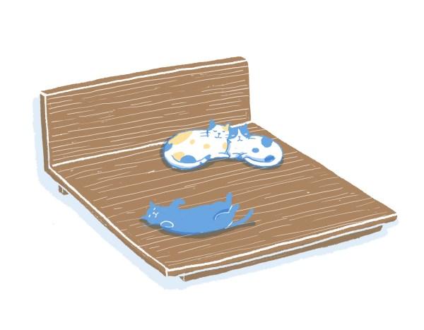 眠豆腐胡桃木床架|雙人加大