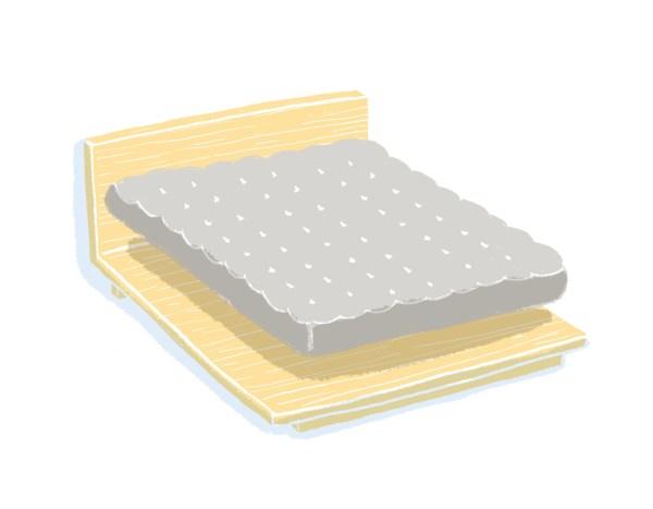 芝麻豆腐床架+床墊組合|標準雙人