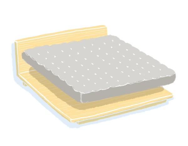 芝麻豆腐床架+床墊組合|雙人加大