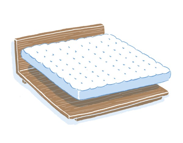 眠豆腐胡桃木床架+床墊組合|雙人加大
