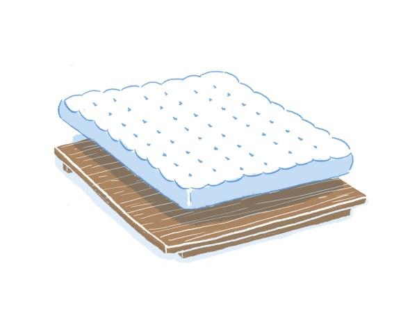 眠豆腐胡桃木床架+床墊組合(無床頭板) 標準雙人