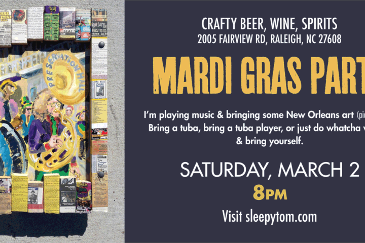 MARDI-GRAS-Party 2019 Five Points Raleigh