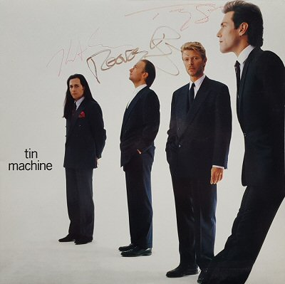 Wonderful AUTOGRAPHED Tin Machine Sleeve.