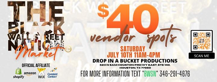 The Black Wall Street Nation Market – Vendor Branding Event