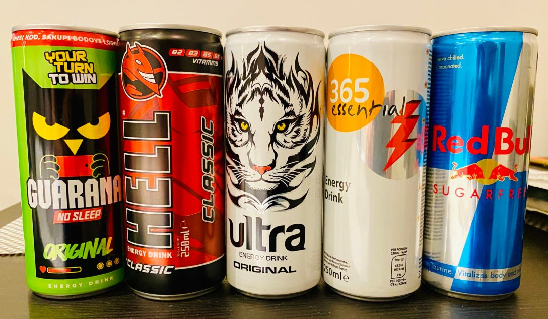 Collection of energy drinks