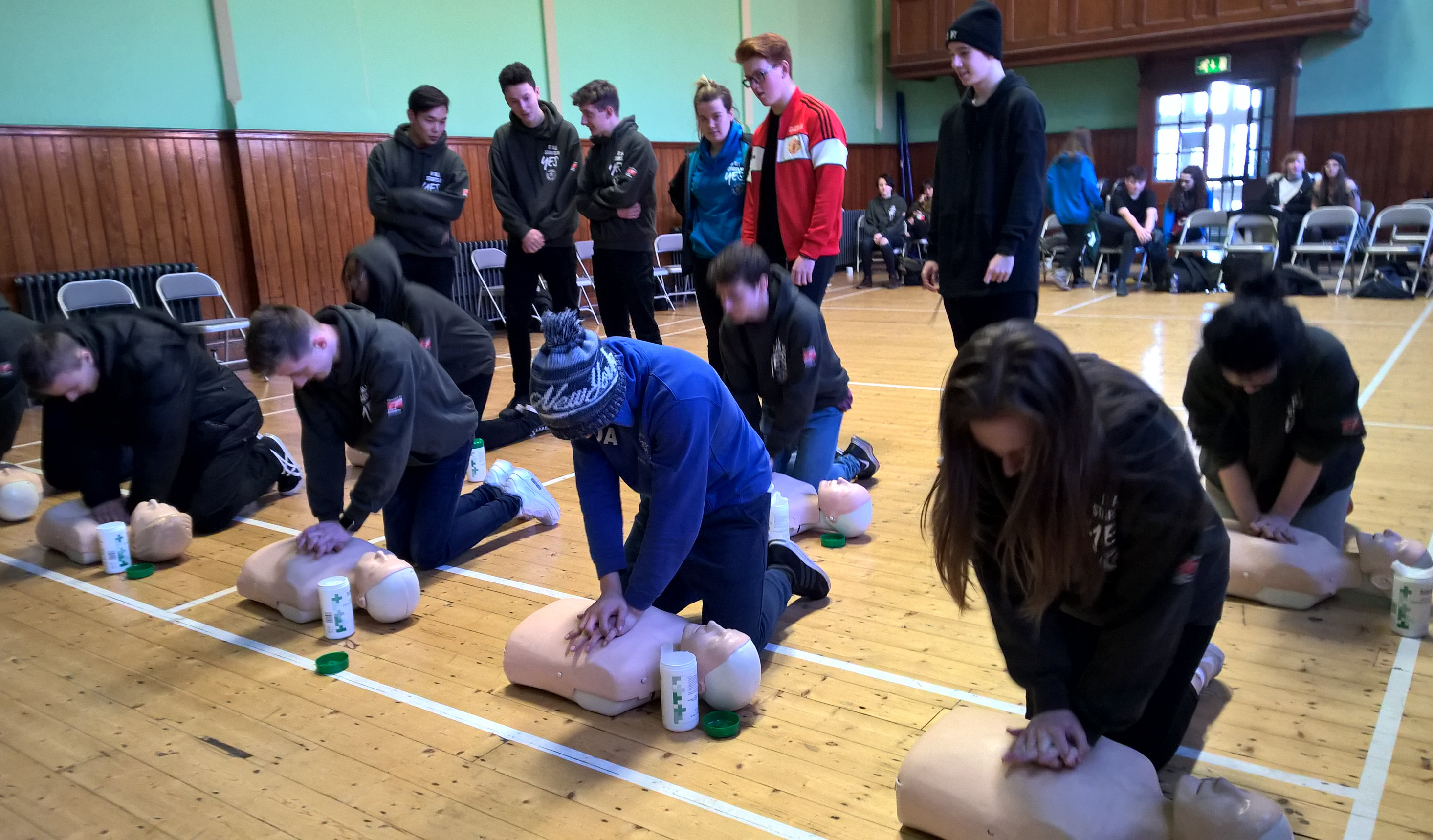 Young people learn first aid skills