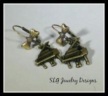 Piano earrings