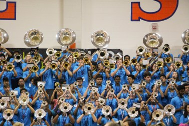 The Band perform during the Pep Rally