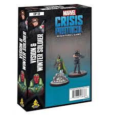Marvel Crisis Protocol Miniatures Game Vision and Winter Soldier Image