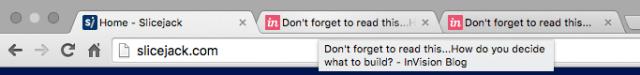 Browser tab reminder + title