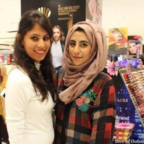 Posing pretty with fellow blogger Heba QR