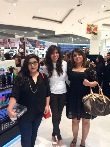 With fellow bloggers Laxmi and Pooja