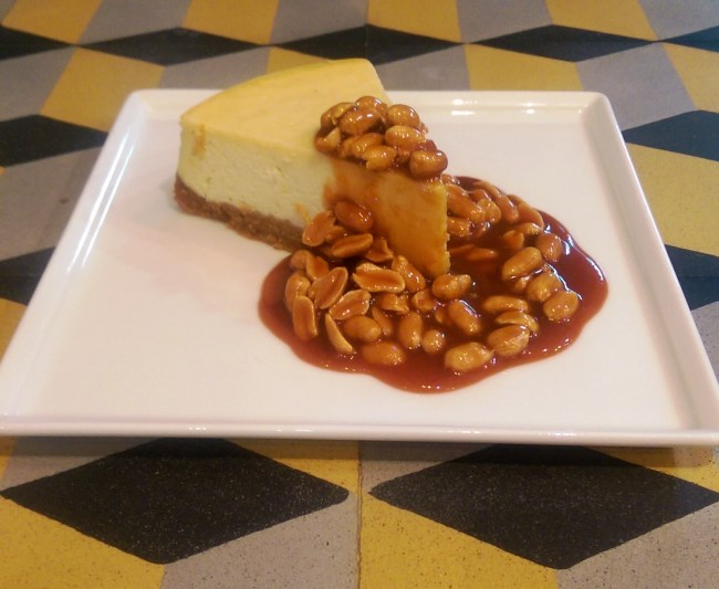 Baked Cheesecake with Caramelized Peanuts at Nathalie's Coffee & Kitchen