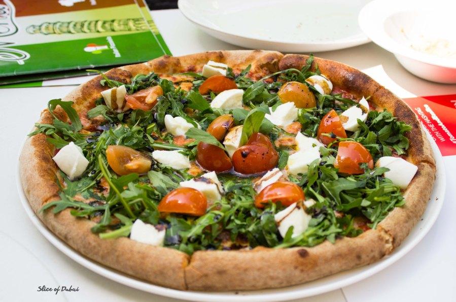 Tomato and Basilico Chef special pizza