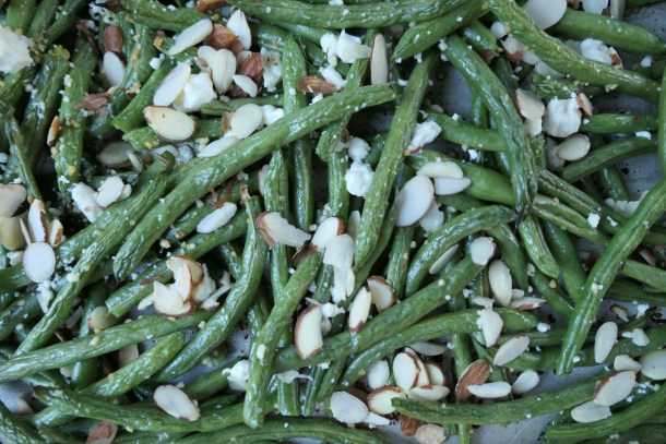 Garlic Feta Green Beans - Slice of Honey Blog