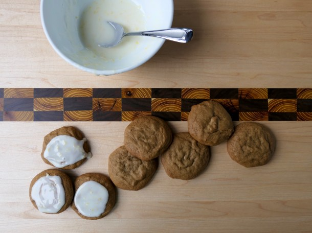 Lemon Iced Ginger Cookies - Slice of Honey Blog