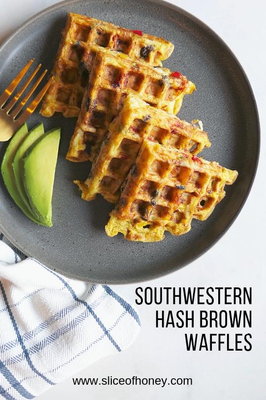 Southwestern hash brown waffles