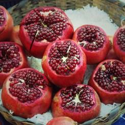opened pomegranates