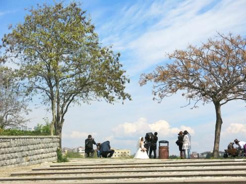 Bride in Fenerbahçe Parkı