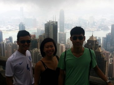 Top of Honk Kong at The Peak with fellow Vancouver folk