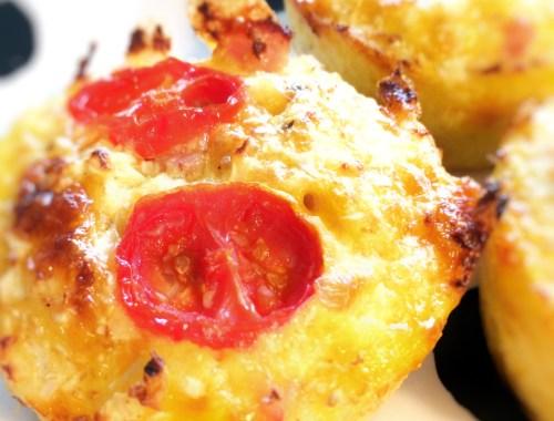 Sunde blomkål muffins til baby, børn og voksne.