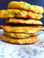 Sunde glutenfri grøntsags - pandekager til baby og tumling. BLW.