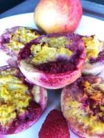 muffins uden banan med æg, æblemos og bær / babymad / blw / 3 ingredienser / sundt