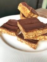 karamel - chokolade kage (slice), nem og lækker