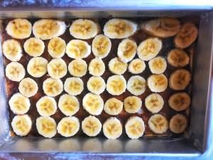 Lækker smovset omvendt banankage / upside down banankage