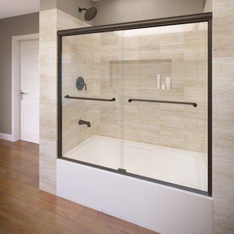 Basco Infinity Frameless Sliding bathtub door