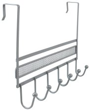 Over the Door Hangers 6 Hook Organizer Rack Hanger