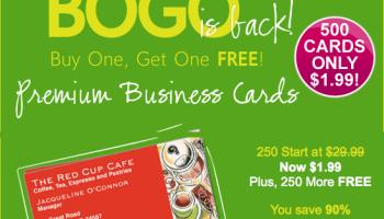 Vistaprint free 250 business cardsnetworking cardsemergency hot deal vistaprint 500 premium business cards for just 199 reheart Images