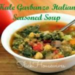 Kale Garbanzo Italian Seasoned Soup Recipe: Crockpot Cooking